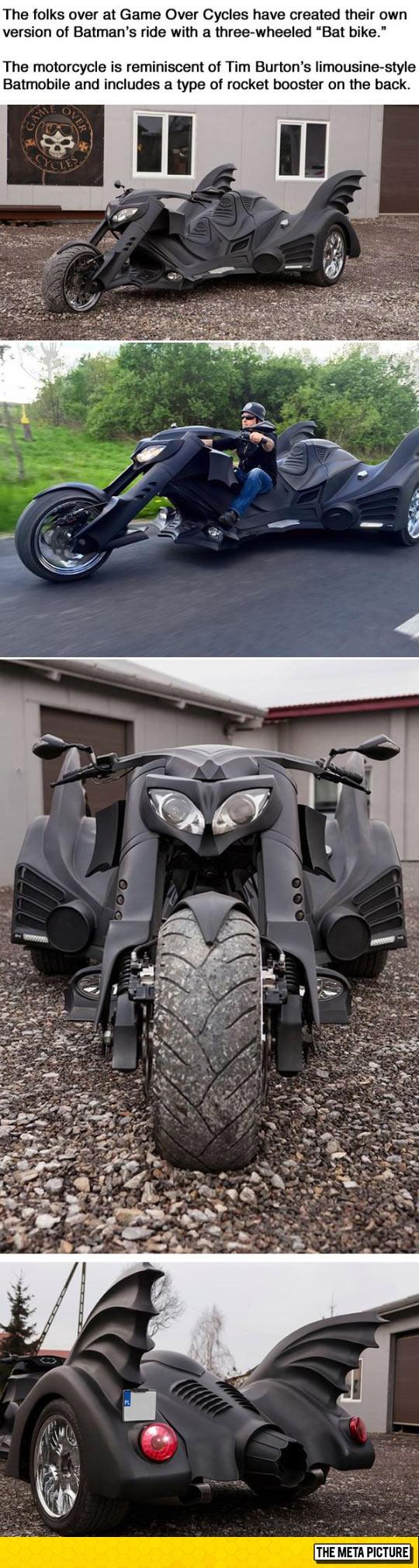 Three-Wheeled Bat-Bike