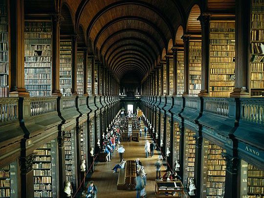 Trinity Library in Dublin
