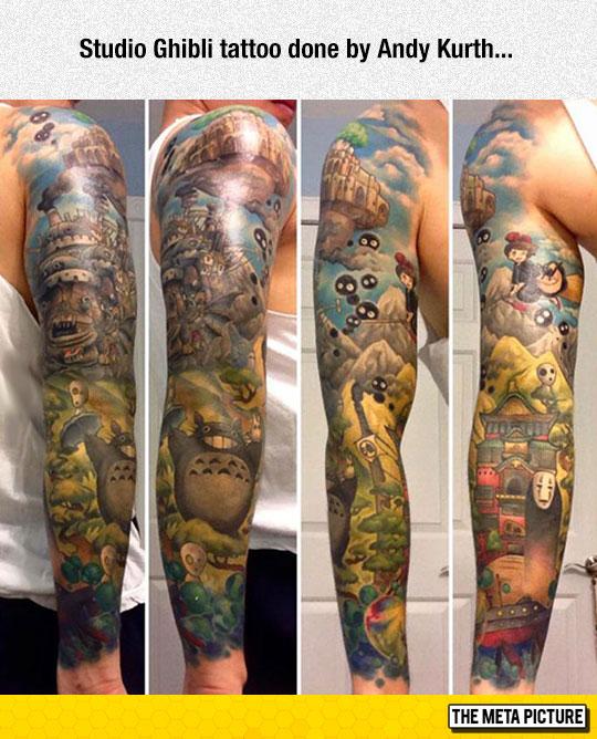 cool-Studio-Ghibli-tattoo-arm