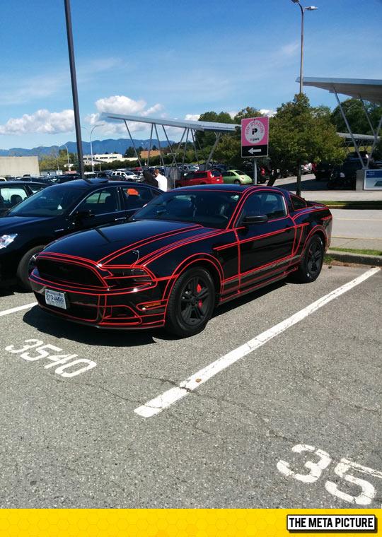 Tron Mustang