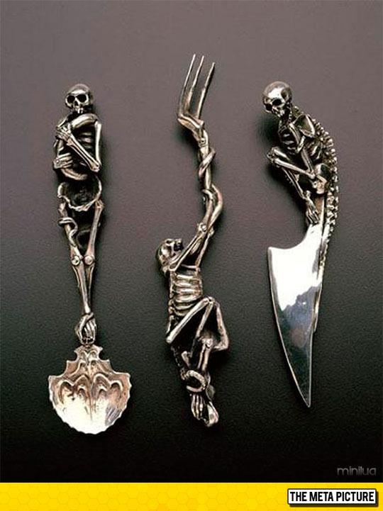 Skeleton Themed Utensils
