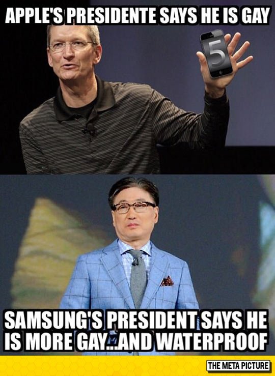 Apple Vs. Samsung: Dawn Of Gayness