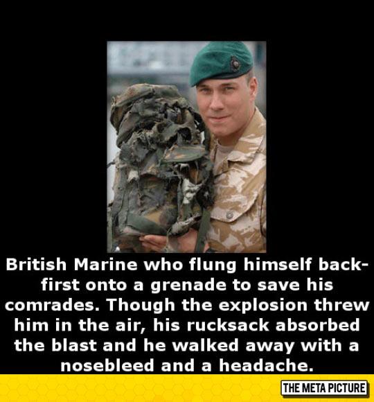 Lucky British Soldier
