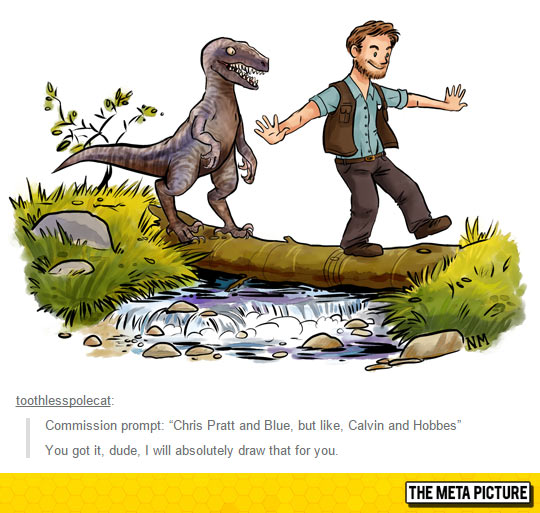 funny-Chris-Pratt-raptor-Blue-comic