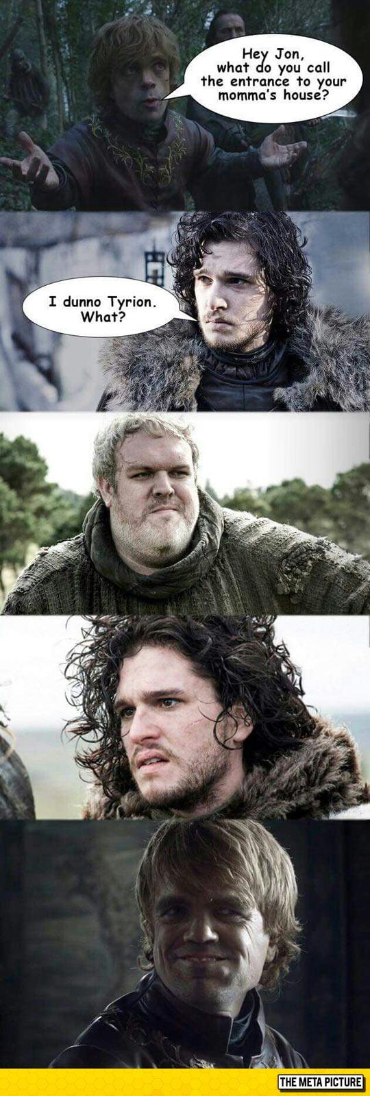 Tyrion Trolling Jon