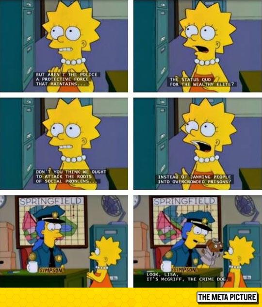 funny-Lisa-police-Marge-dog