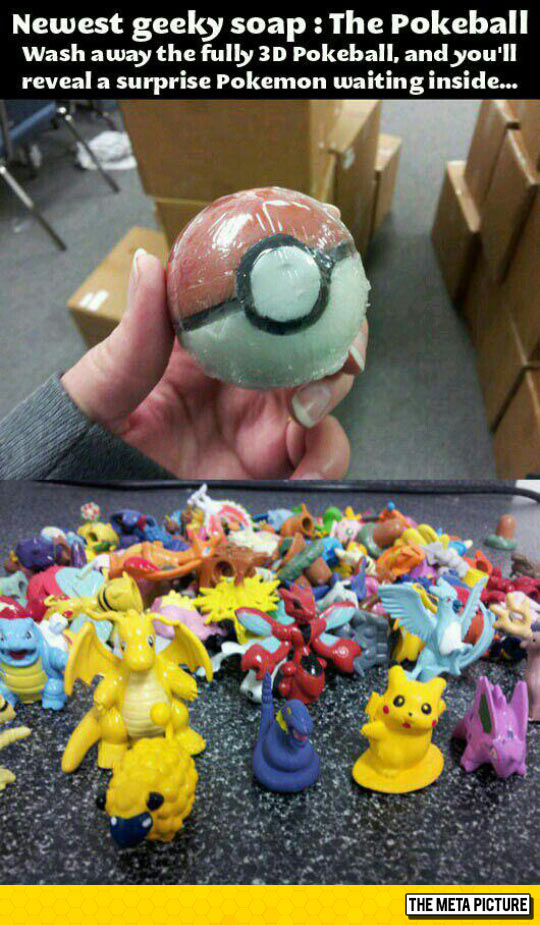 Pokeball Soap With A Surprise
