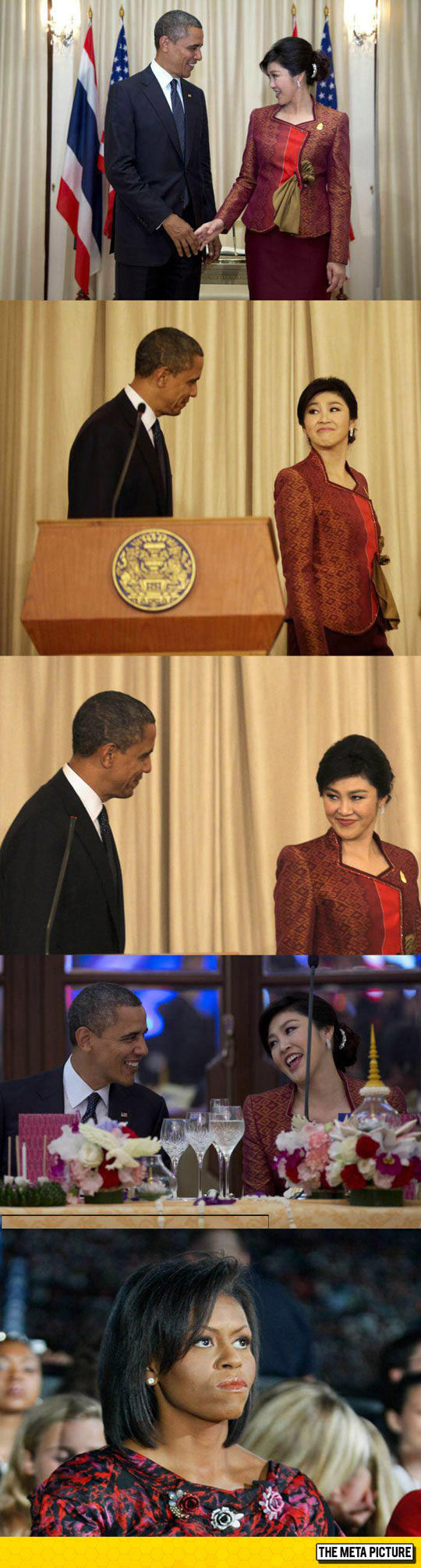 Obama And The Prime Minister Of Thailand