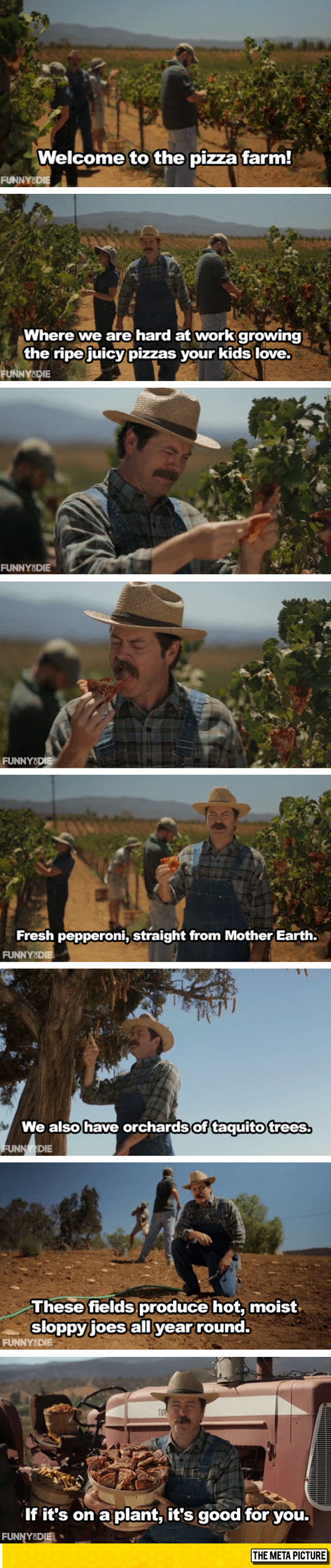Nick Offerman Shows Off His Pizza Farm