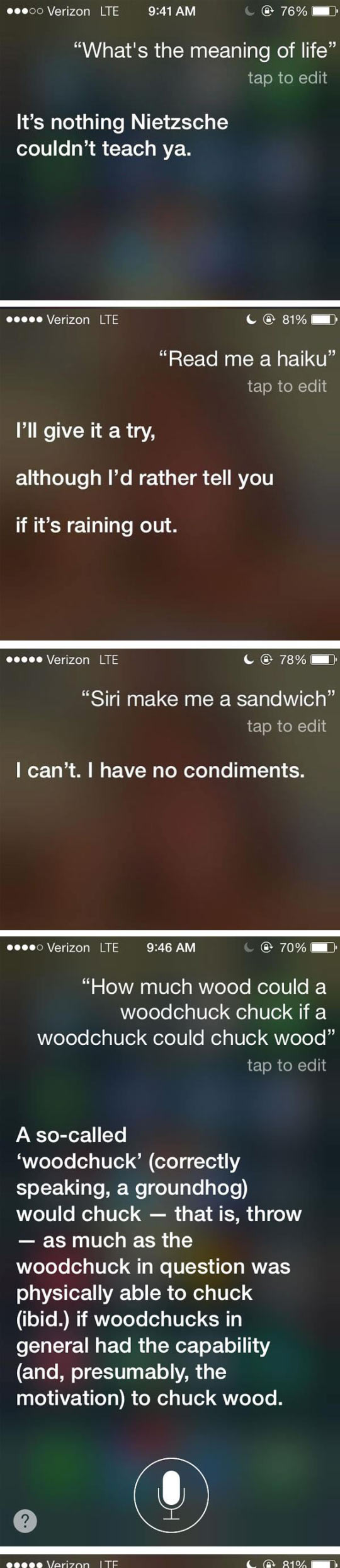 Honest Answers From Siri