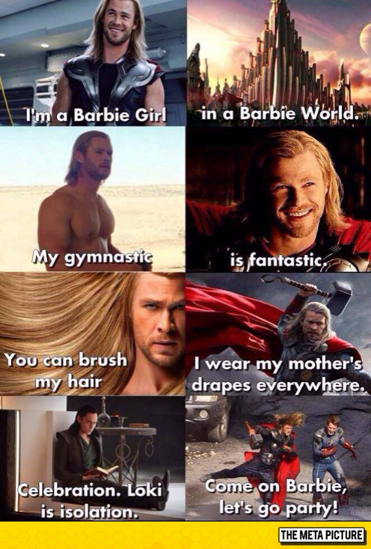 funny-Thor-Barbie-Girl-song