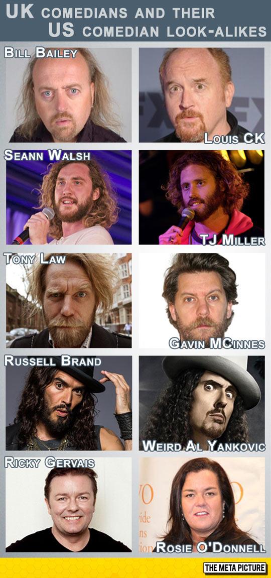 US Comedians Vs. UK Comedians