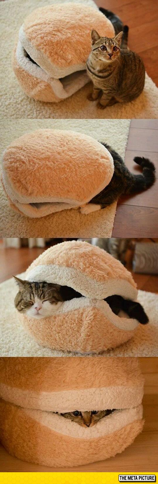 Epic Cat Burger Bed