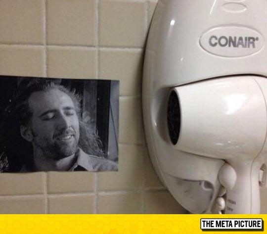 funny-hair-dryer-Nicolas-Cage