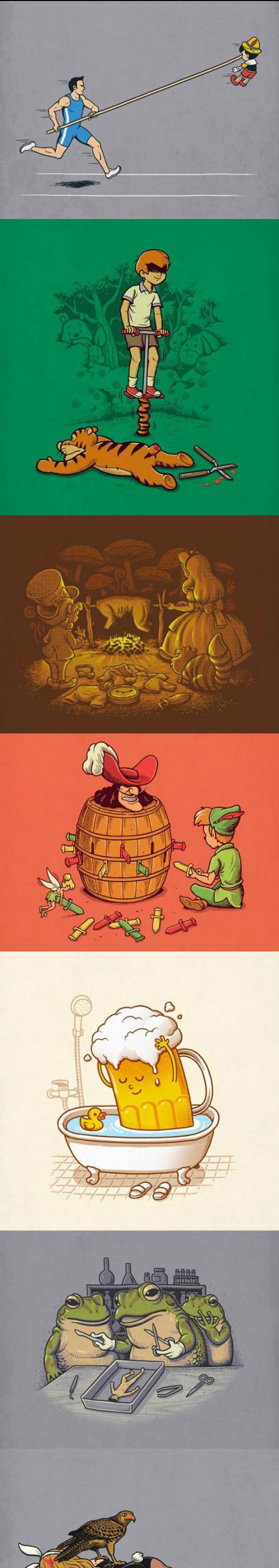 funny-illustrations-Pinocchio-Peter-Pan-Hook