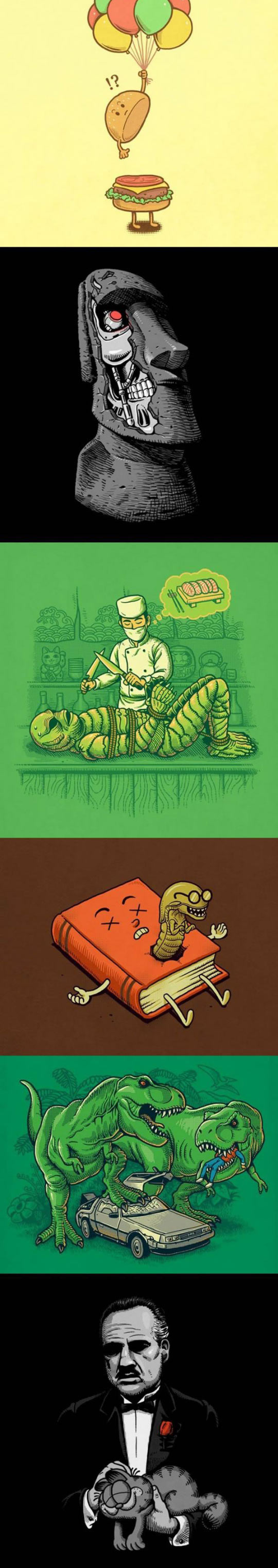 funny-illustrations-Pinocchio-Super-Mario-Alien