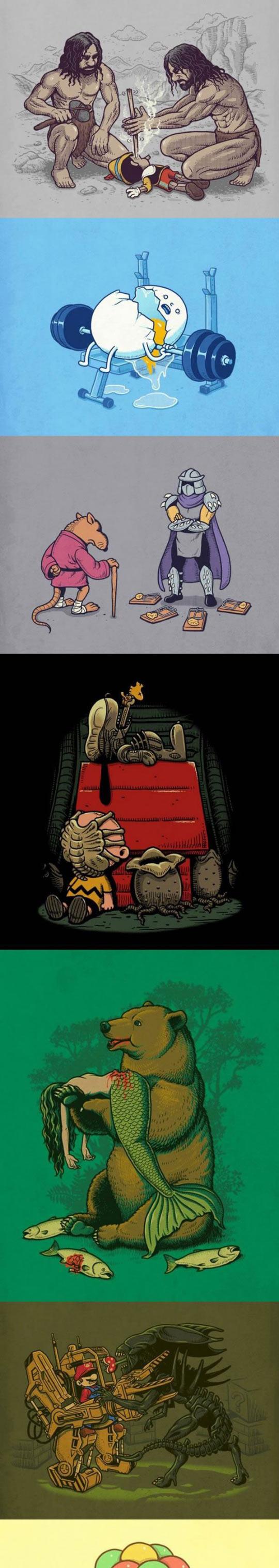 funny-illustrations-Pinocchio-Super-Mario-dead