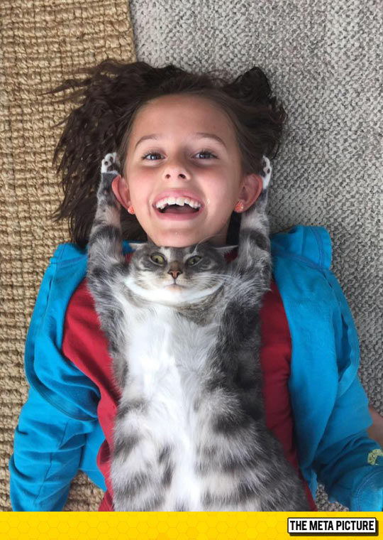 funny-little-girl-cat-lady