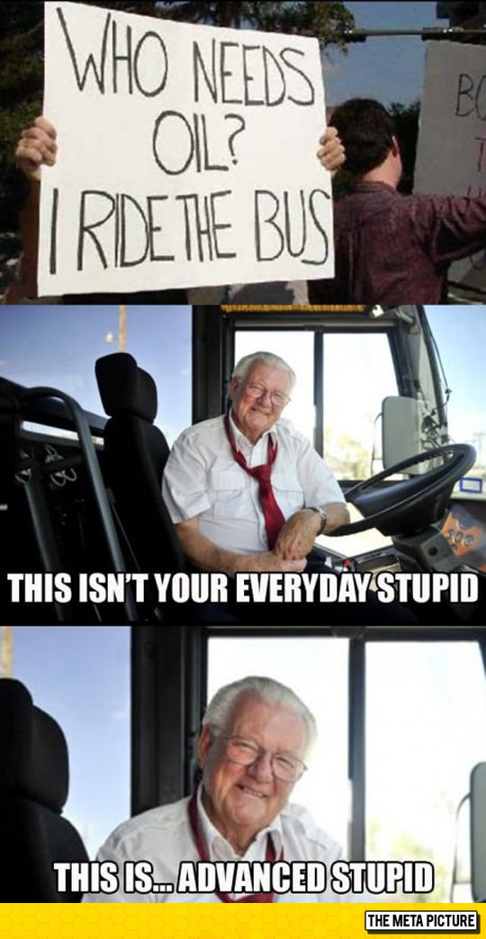 funny-oil-protester-sign-bus