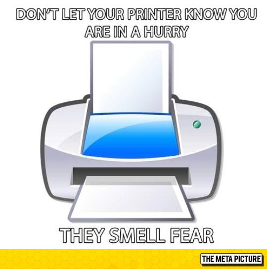 Printers Are Evil