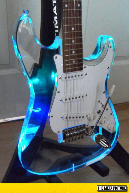 funny-see-through-guitar-blue-light