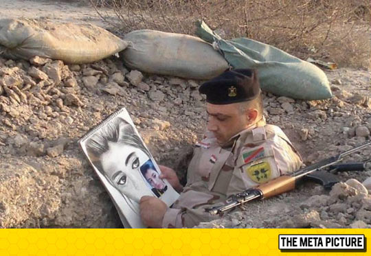 A Soldier Passing The Time
