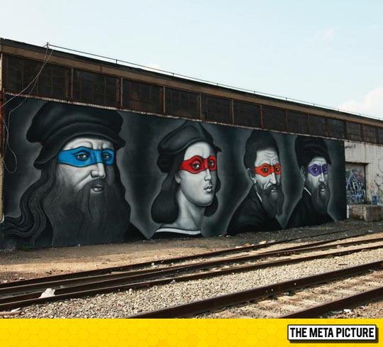 funny-street-art-Teenage-Mutant-Artists