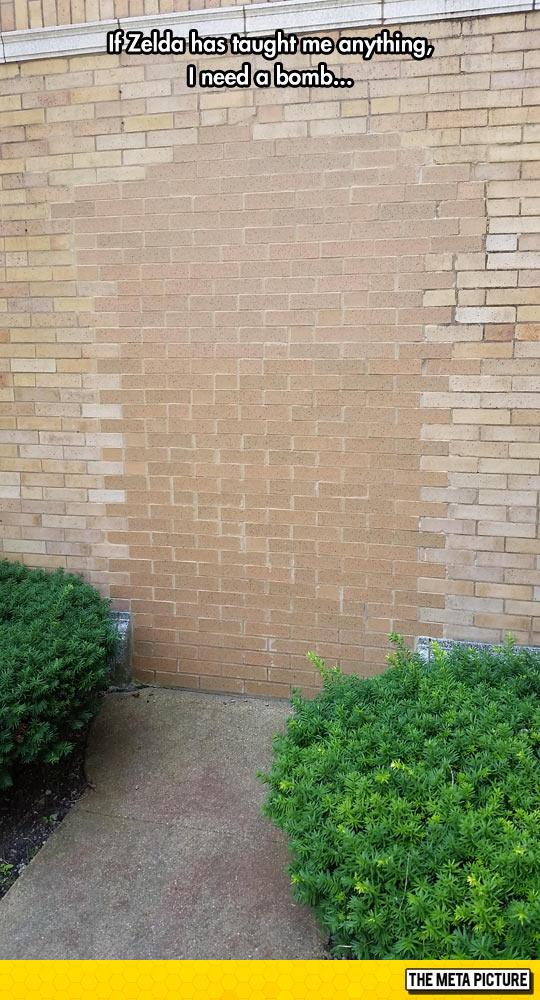funny-wall-bricks-Zelda-bomb