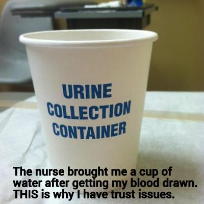 10. The time your nurse played a cruel, cruel joke