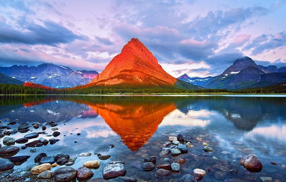 A Mountain During Sunrise