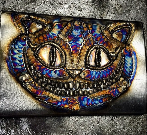 Awesome welding work of the Cheshire Cat.