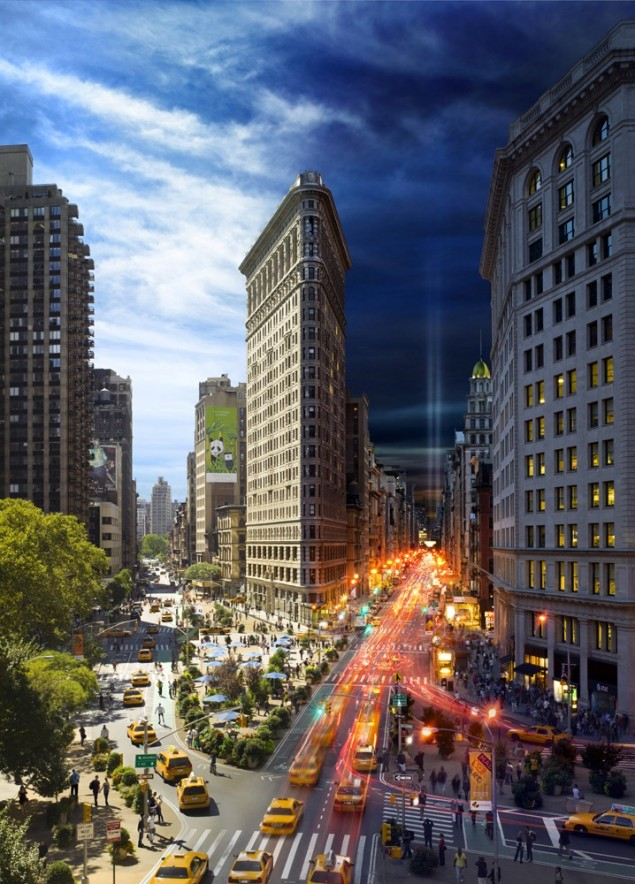 Day And Night In New York City