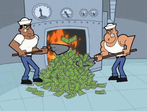 How it feels when you spend money on food