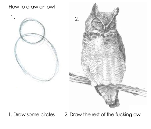 How to draw an Owl!