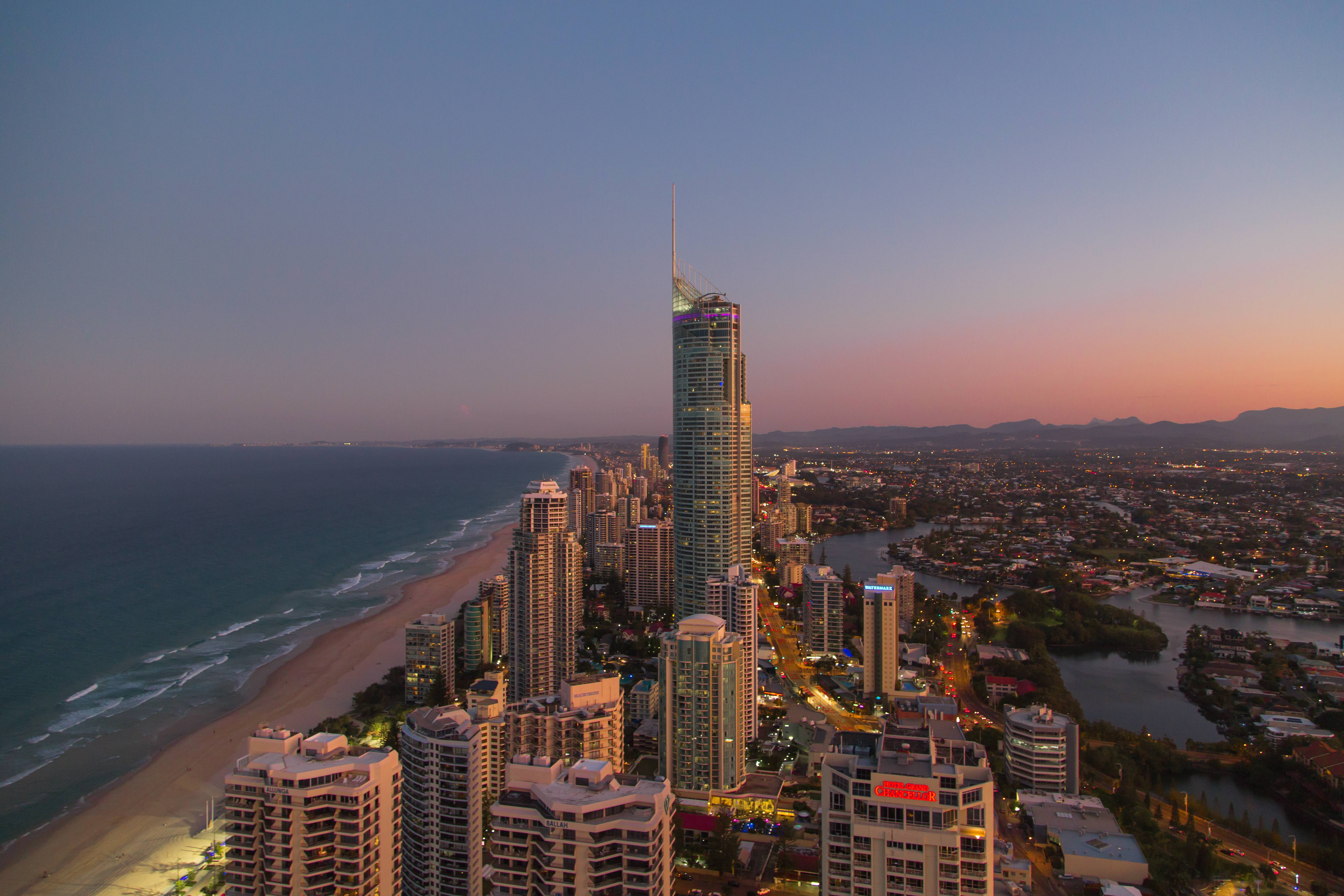Staying on the Gold coast for a couple of days, our apartment has vertigo inducing views!