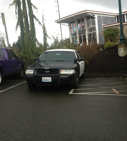 The time a cop car had the license plate 'NOTACOP'