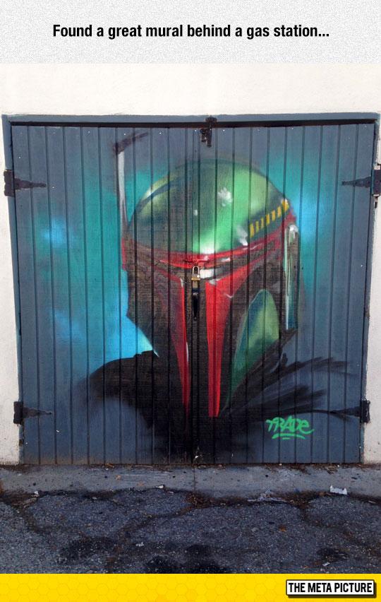 cool-garage-door-art-Boba-Fett