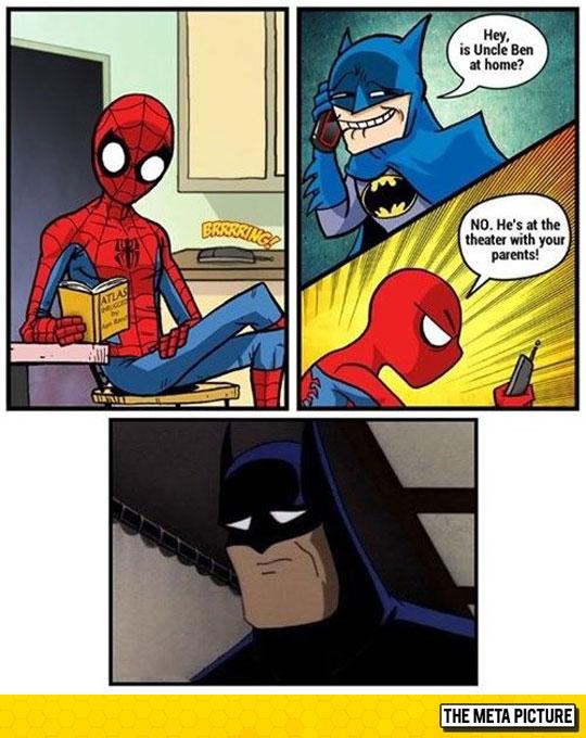 funny-Batman-Spider-Man-telephone-comic-book