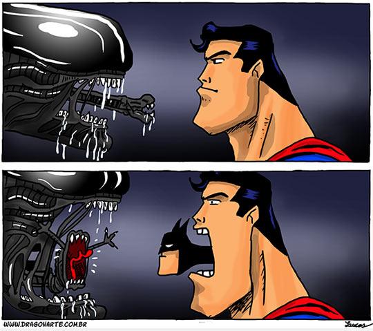 funny-Batman-Superman-Alien-comic