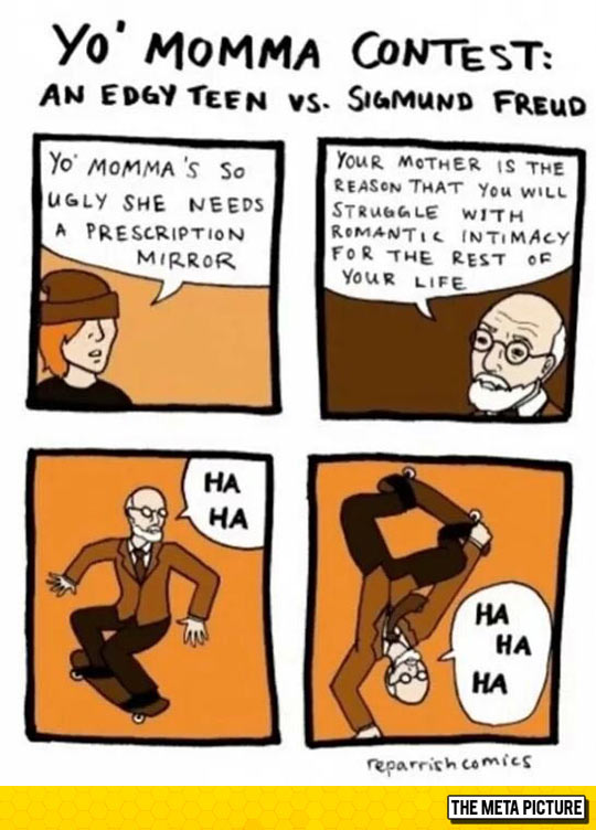 Edgy Teen Vs. Sigmund Freud