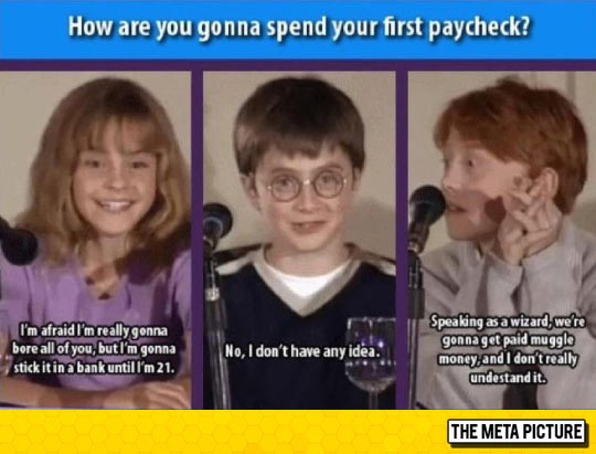 Their First Paycheck