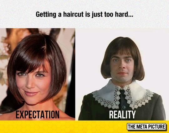 Getting A New Haircut Is Hard