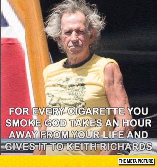 For Every Cigarette You Smoke