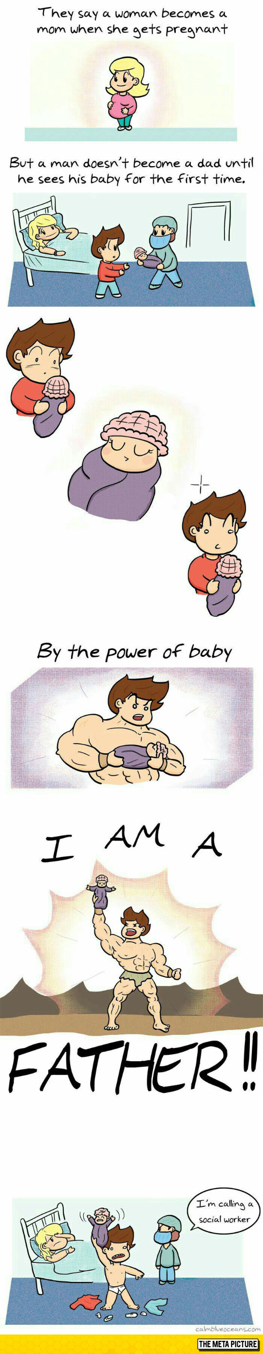 funny-baby-woman-man-becomes-father