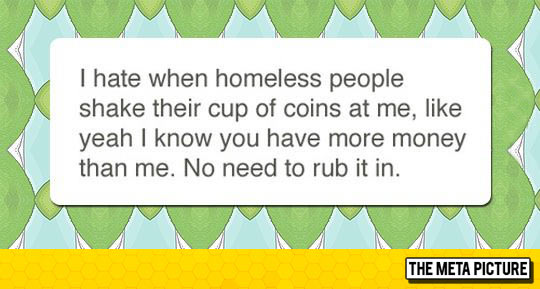 Homeless People And Me