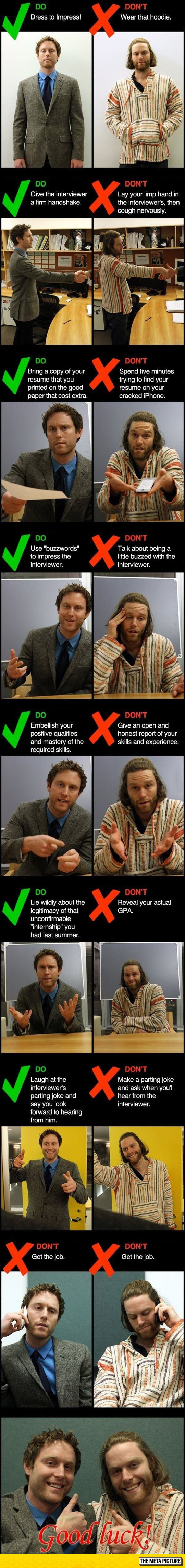 funny-job-interview-tips-dos-donts