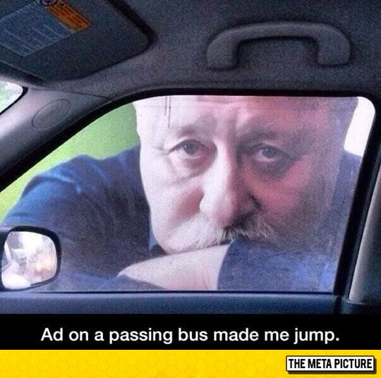 Creepy Window Poster Guy