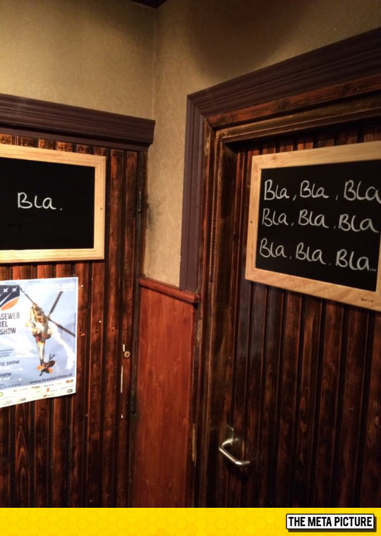 My Wife Said The Restroom Signs Were Unclear, I Thought They Were Pretty Clear
