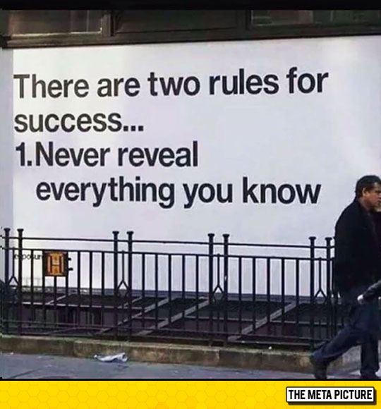 There Are Two Rules...