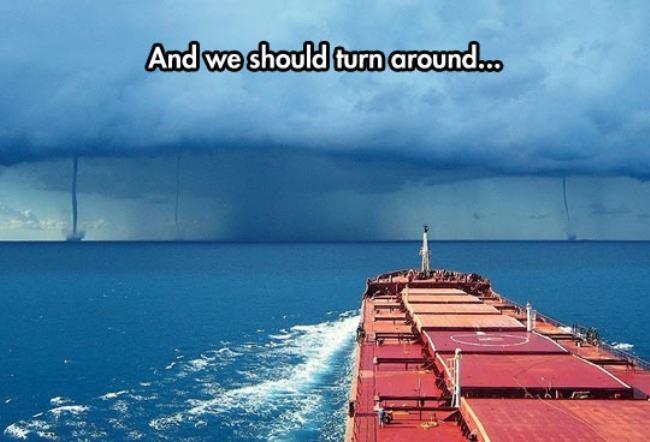 we should turn around